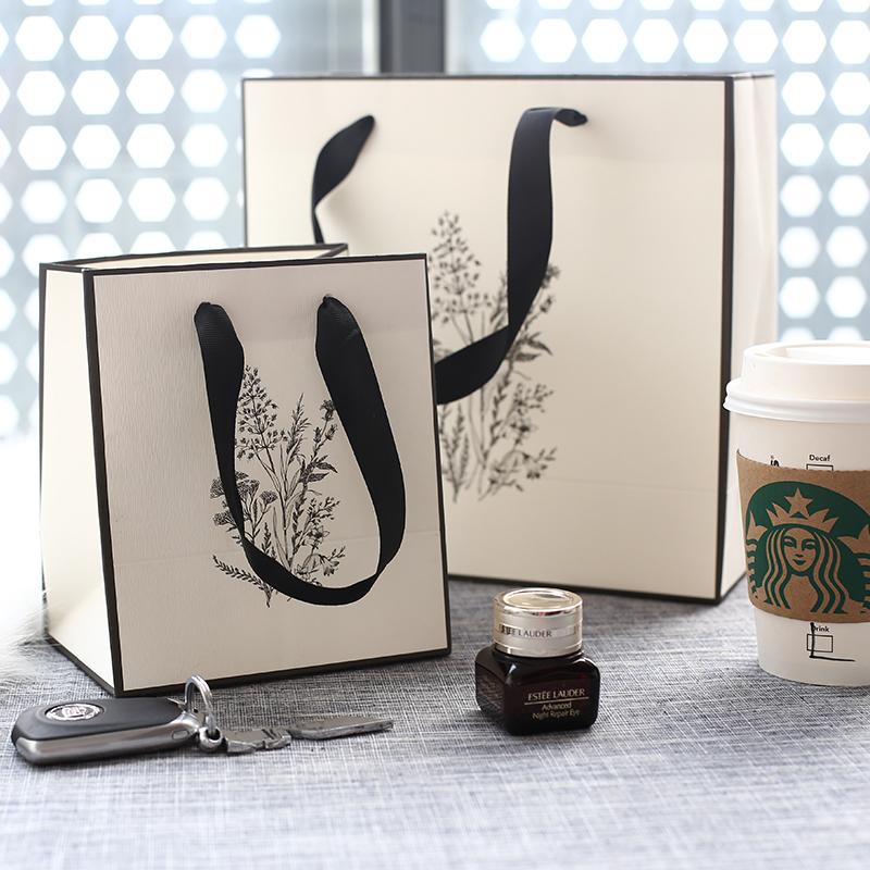 纯白色化妆品购物袋 白色包装小礼品袋 生日礼品袋 服装袋