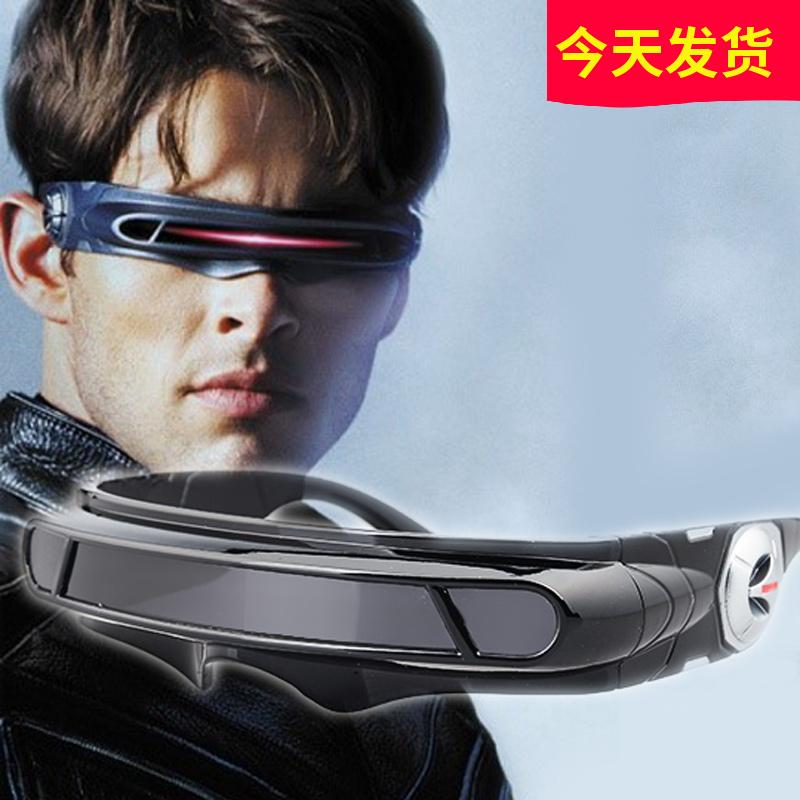 包邮 正品x战警镭射眼超酷偏光太阳镜眼镜彩膜激光眼黑色运动男款