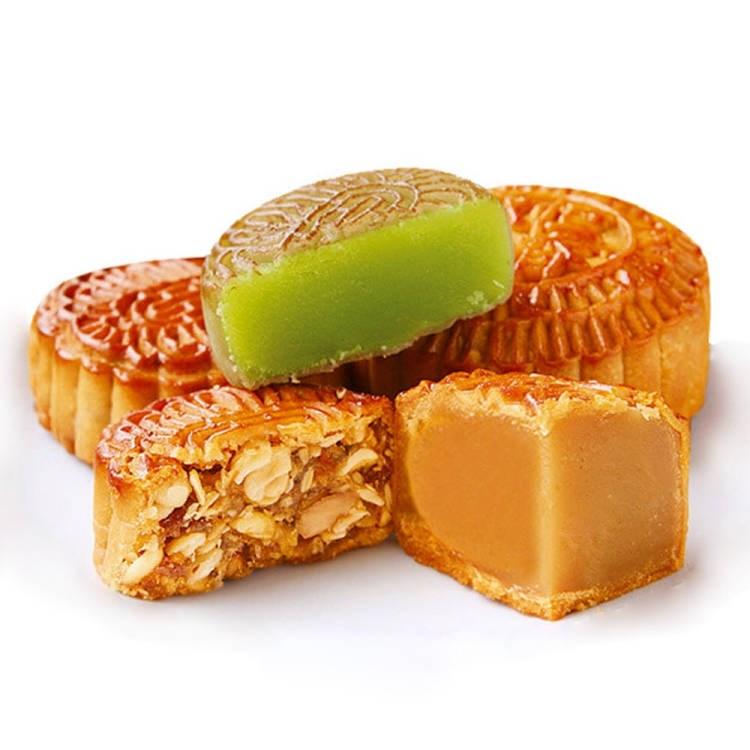 【买一送一】广式月饼2500g迷你水果月饼散称小月饼传统糕点包邮