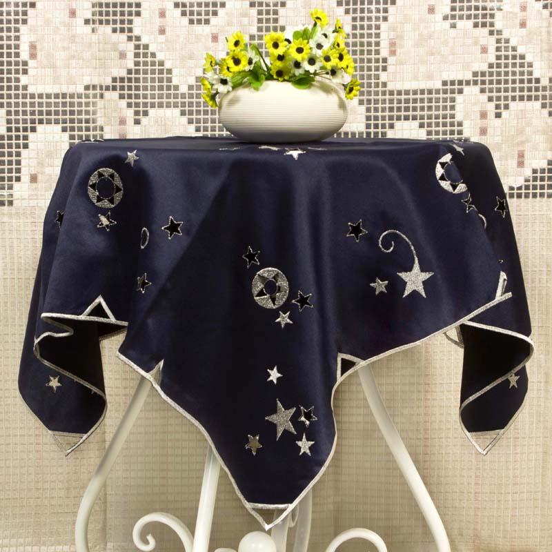 绣花涤贡缎方桌布小茶几盖巾 85厘米方型电视洗衣机万能出口德国