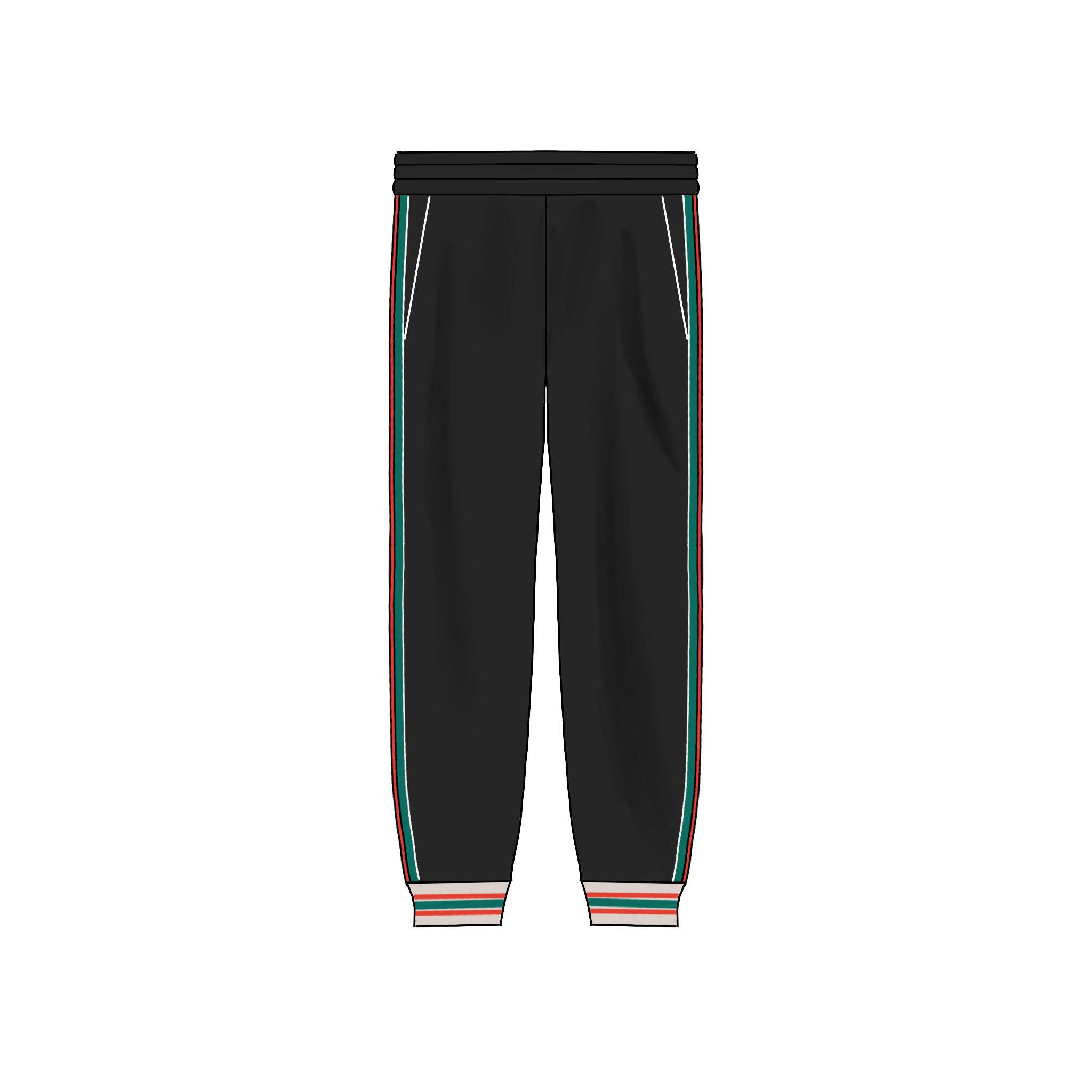 CDIARY HOMME 暗纹针织提花红绿织带运动慢跑休闲长裤