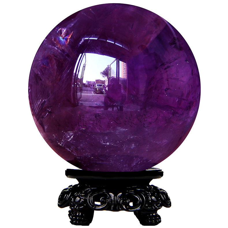 Jingguiren pure natural amethyst ball raw stone grinding home office living room crystal decoration gift ball ornament