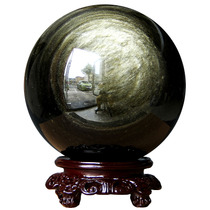 Jing Noble Authentic Natural Obsidian Ball Natural Jin Shi ball raw stone grinding Jin Shi ball Decoration