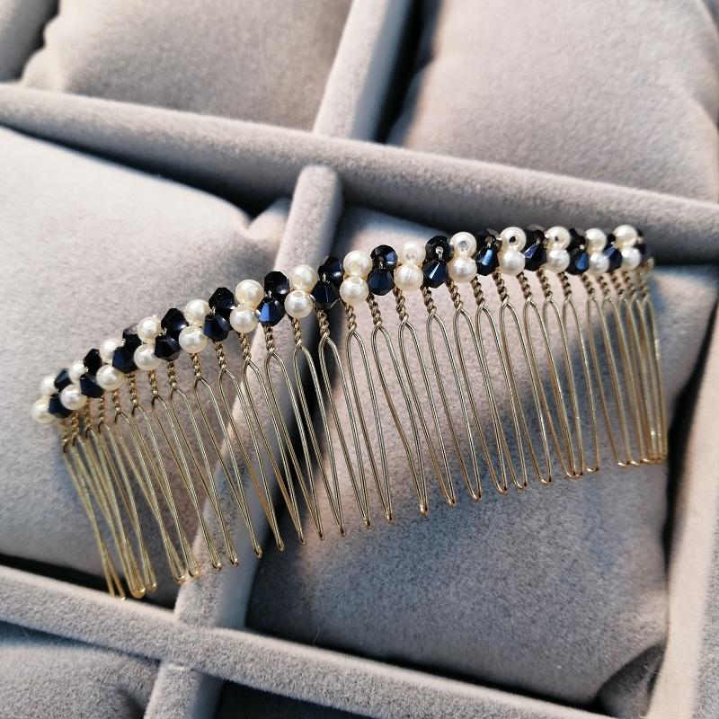 Anti slip disc broken hairpin hairpin Korean straight top hairpin headdress comb card bangs hairpin bride hairpin