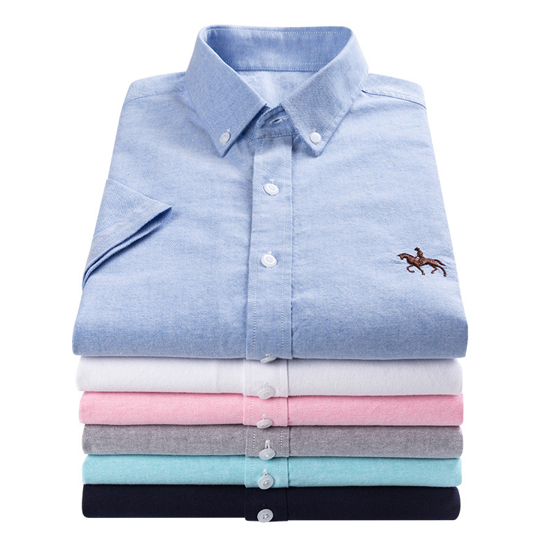 Mens long sleeve shirt slim fitting cotton Oxford Shirt 2020 spring summer white short sleeve inch shirt mens half sleeve