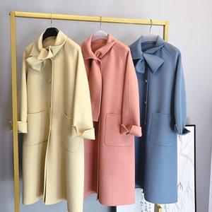 领300元券购买2019秋冬新款小个子双面呢羊绒大衣