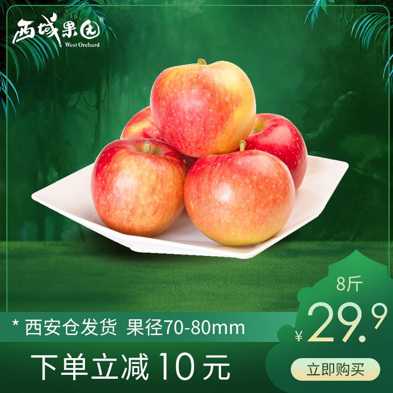 阿克苏红富士苹果非冰糖心净重8斤新疆小苹果新鲜水果整箱包邮