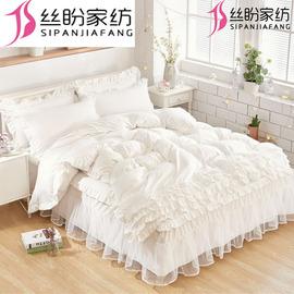 少女心四件套四件套多件套罩床裙床防滑花边被套蕾丝粉床品套件