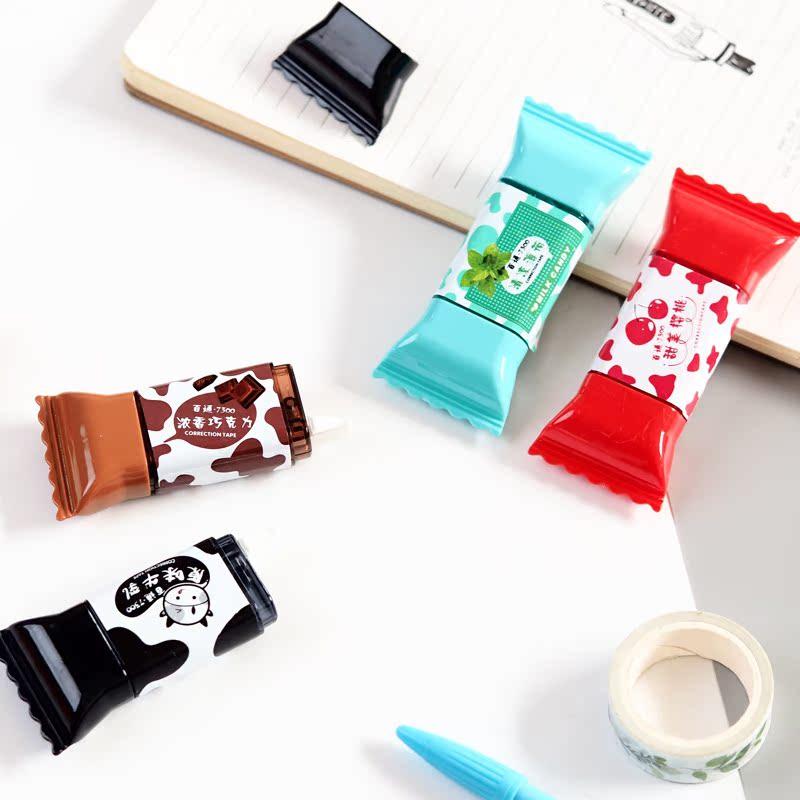 小清新可爱糖果修正带3.5米 韩国创意卡通学生用涂改带改正带