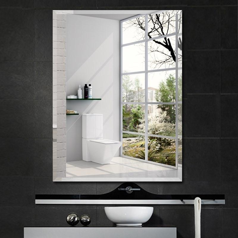 挂镜卫生间宿舍粘贴壁挂式背景墙镜子浴室防水学生玻璃镜片装饰
