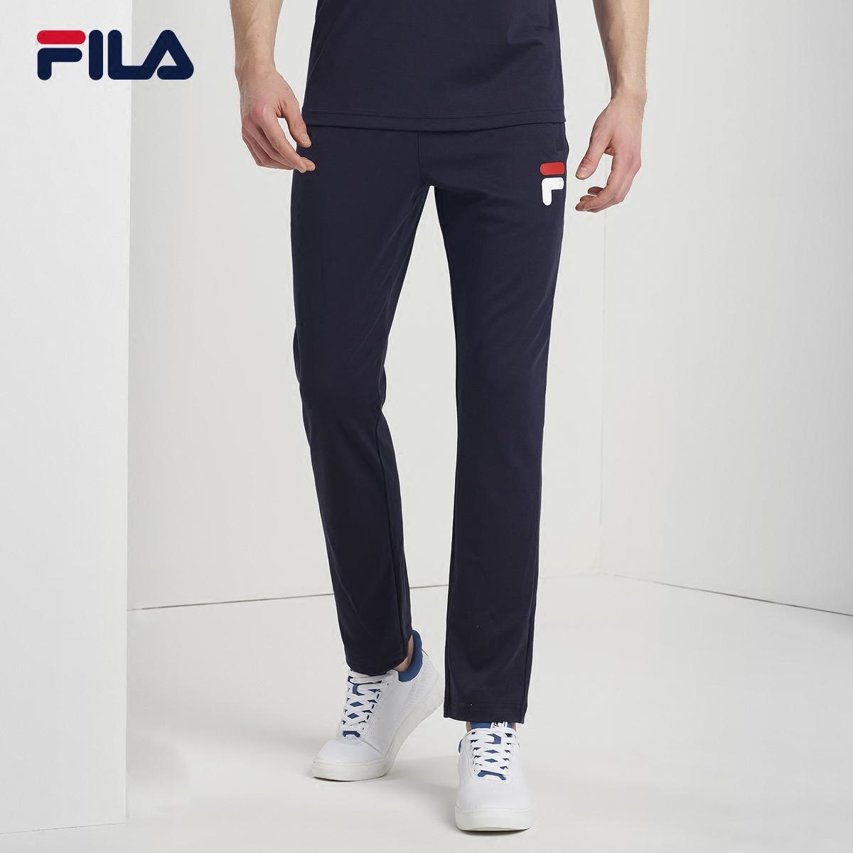 FILA斐乐男2018夏季新款针织长裤纯棉运动长裤|F61M828637F