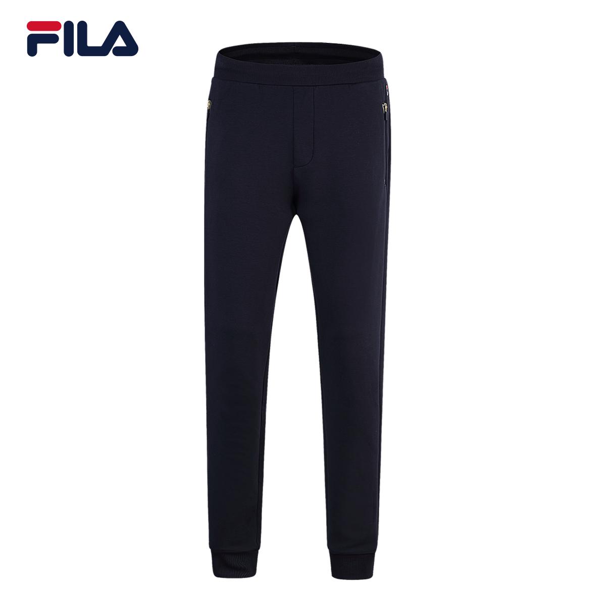 聚FILA斐乐男2018春季新品收口休闲透气运动长裤|F51M838610A