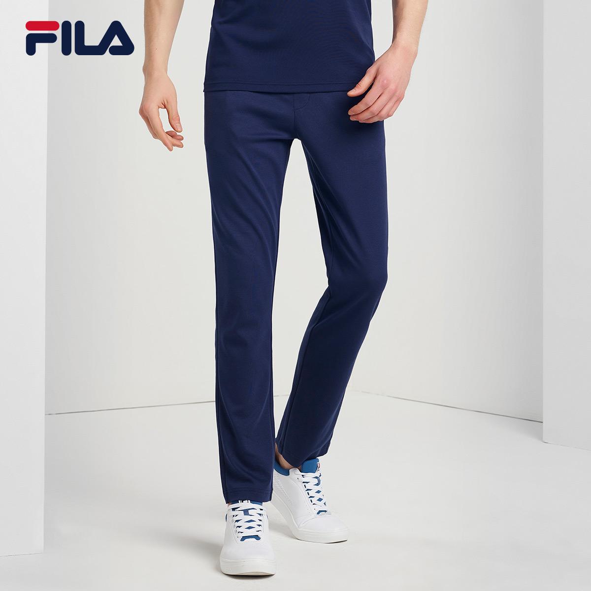 FILA斐乐男2018夏季新款吸湿排汗针织运动长裤休闲裤|F61M828644F