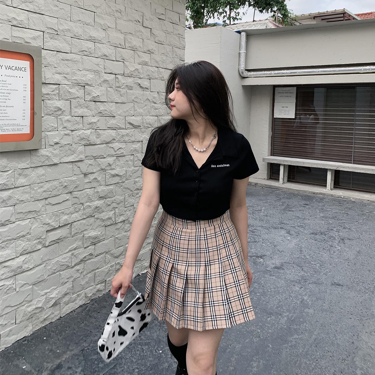 安妮不火 短袖t恤女2021新款夏季微胖显瘦打底衫性感紧身内搭上衣