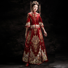 Xiuhe dress bride 2019 new Chinese wedding dress wedding dress toast dress wedding dress kimono Xiuhe dragon and Phoenix jacket