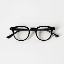 小物商店复古黑框圆角黑色板材休闲素颜遮脸眼镜框架包邮
