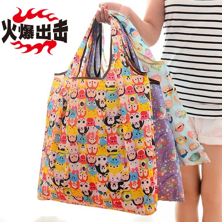 Foldable, portable, environmental protection bag, handbag, large capacity, foldable shopping bag, portable shopping bag