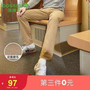 堡狮龙秋季男装裤子男修身休闲长裤男弹力男士西裤3111041A1
