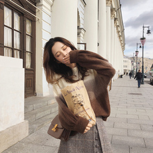 Woman Sweater 2018 Spring Garment New Korean Version Loose and Immortal Chic Knitted Jacket Woman Autumn
