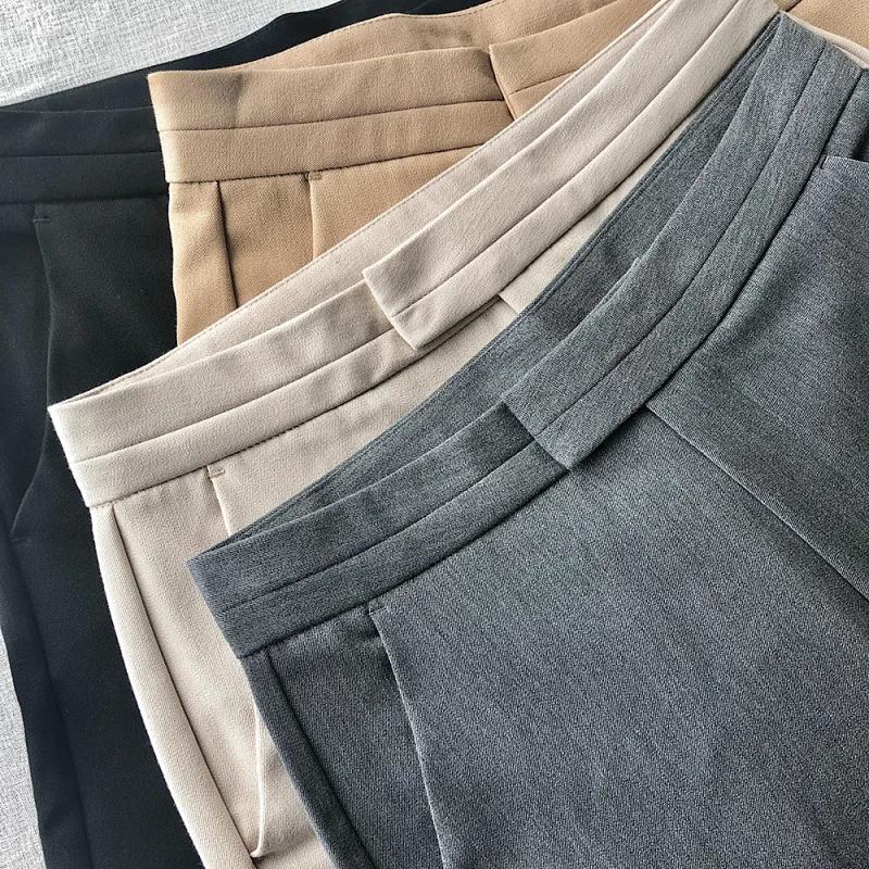 超好版型的基础款西装裤岛国烟管裤 显瘦超舒服锥形西装裤九分裤
