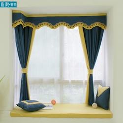 2020新款中式订制古典艺术卧室寝室飘窗帘头成都美式窗幔遮光窗帘