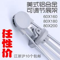 80x20080x180美式X展架折叠架广告架X架易拉宝铝合金展架60x160