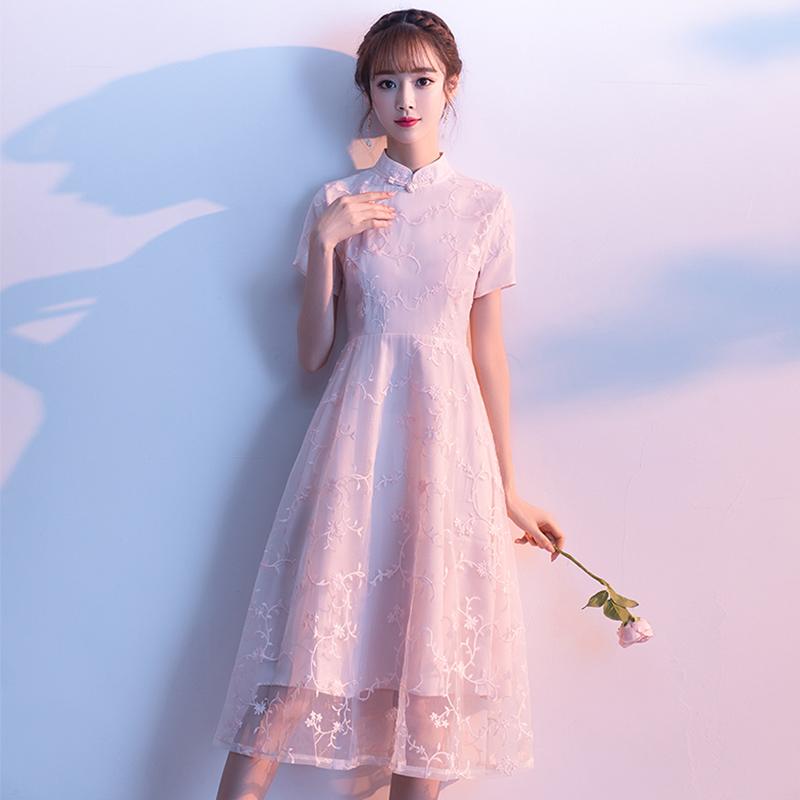 2019夏季新式年轻款少女改良连衣裙