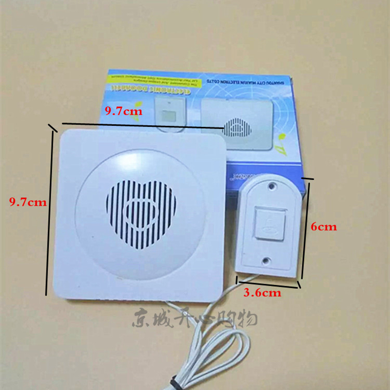 品质高有线门铃 电子门铃呼叫器 叮咚门铃老式有线门铃送电池家用