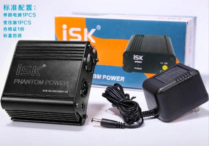 Конденсаторный микрофон ISK SPM-001 SPM001 для 48V источник питания микрофон isk фантомное питание