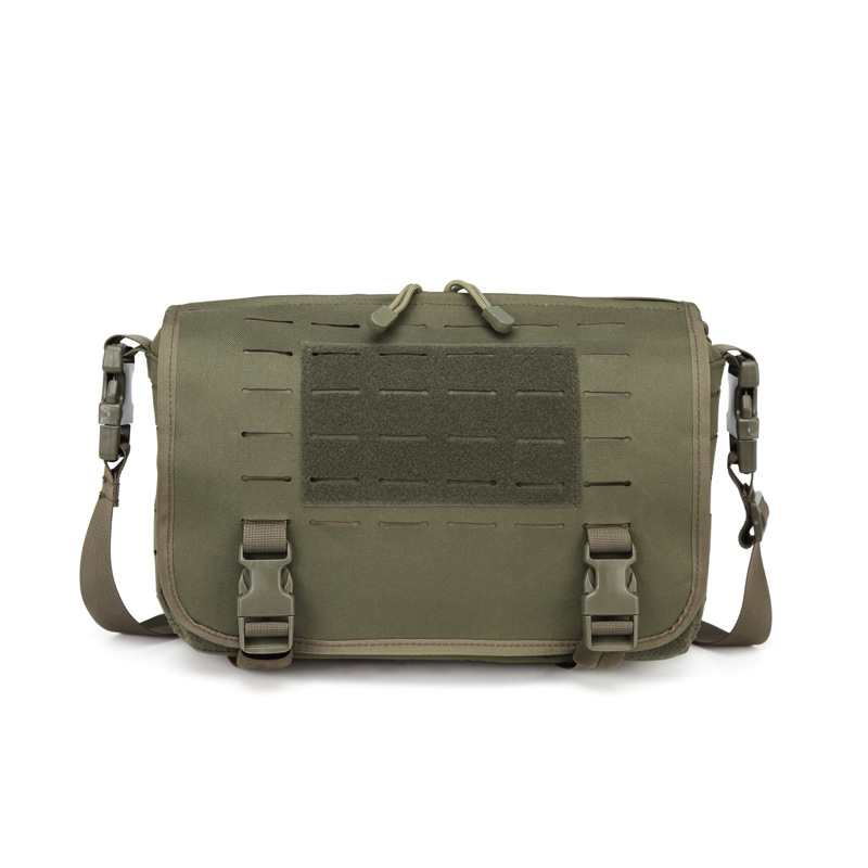 Oxford composite fabric laser punching MOLLE tactical Commuter Bag Messenger army camouflage shoulder bag