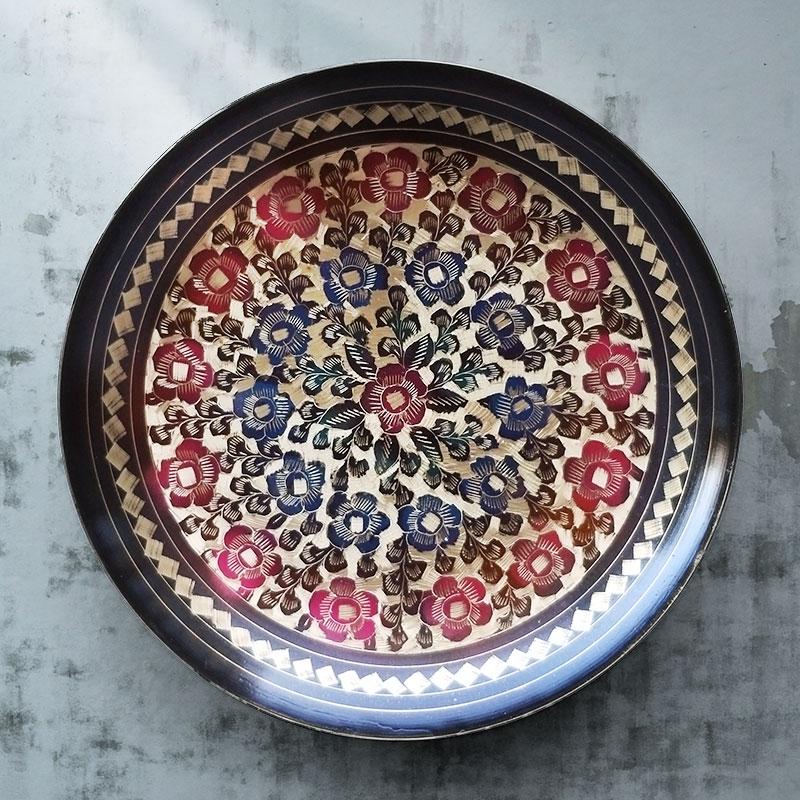 西式精美装饰盘子挂盘壁饰墙背景墙创意装饰坐盘巴基斯坦铜盘摆件
