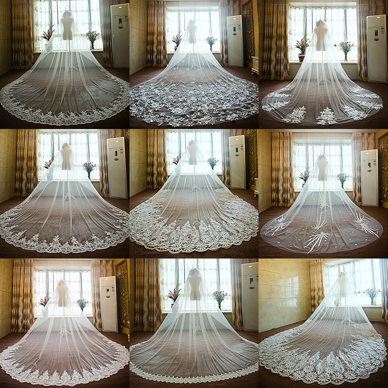Вуаль невеста свадьба платья континентальный ретро вуаль 2017 новый супер секретаря расширение невеста полноценный большой вуаль