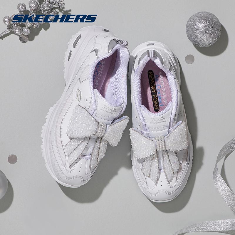 13159烫钻蝴蝶结一脚套运动鞋老爹鞋女litesD斯凯奇女鞋Skechers