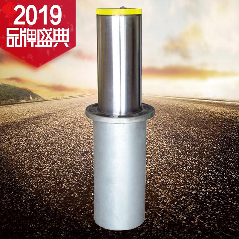 固质不锈钢半自动升降路障 路桩 挡车柱 不锈钢气压路障车位地锁