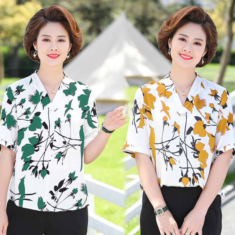 On Mothers day, I want to send my mothers summer clothes, womens short sleeve T-shirt, 40 to 50t in my 30s