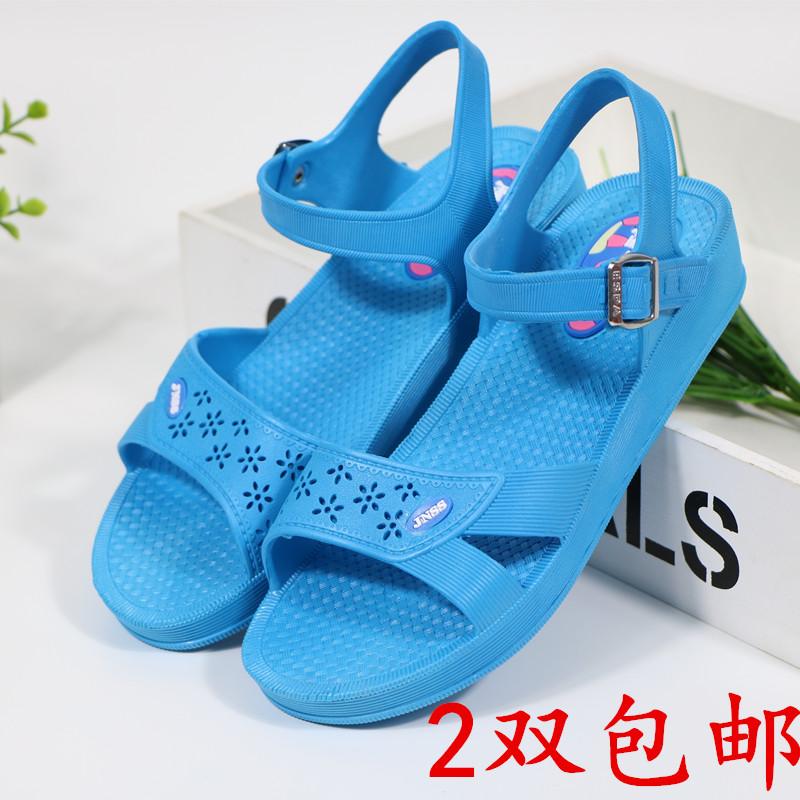 夏季棉纺厂车间防滑软底护士夏凉鞋(非品牌)