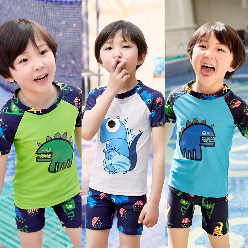 券后26.77元韩国宝宝小中大三件套防晒速干泳裤