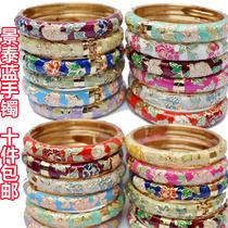 北京景泰蓝手镯正宗牡丹花手镯时尚复古宫廷镀金饰品特色出国礼品