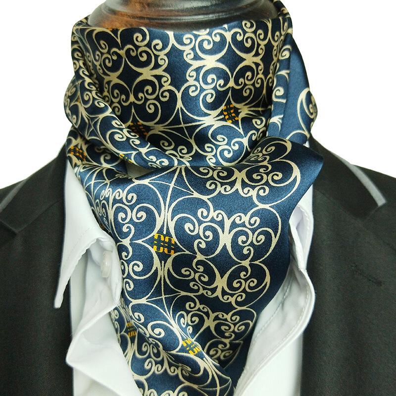 四季新款男士100桑蚕丝长条领巾