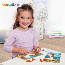 欧蒙beleduc贝乐多智力启蒙七巧板拼图 木质早教益智玩具男孩女孩