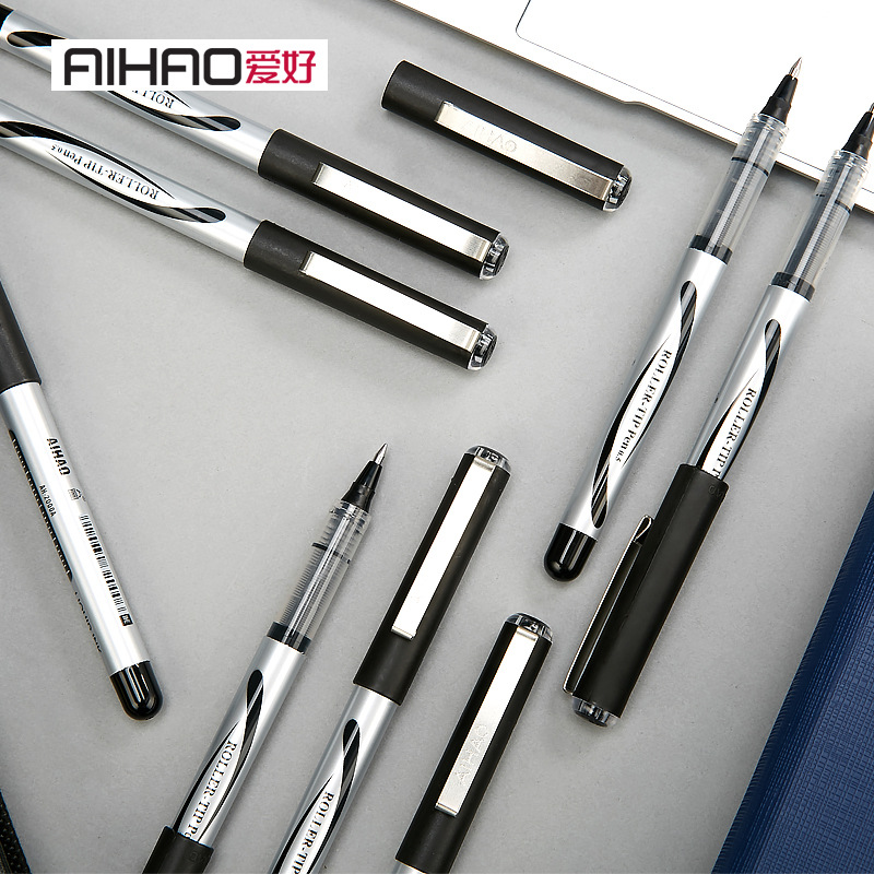 爱好签字笔 AH-2000A直液式走珠笔0.5mm中性笔一次性水笔