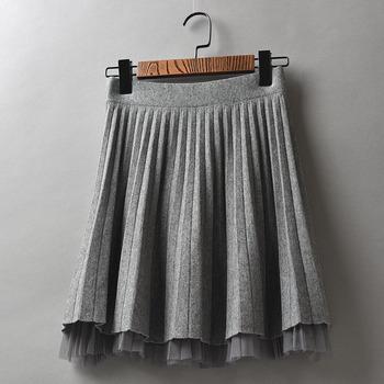 冬季新款休闲气质显瘦针织网纱裙