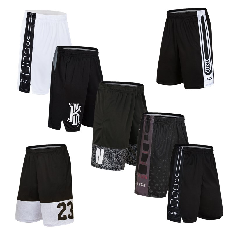 Basketball pants shorts summer thin oversize loose quick drying Capris running training fitness pants mens sports pants