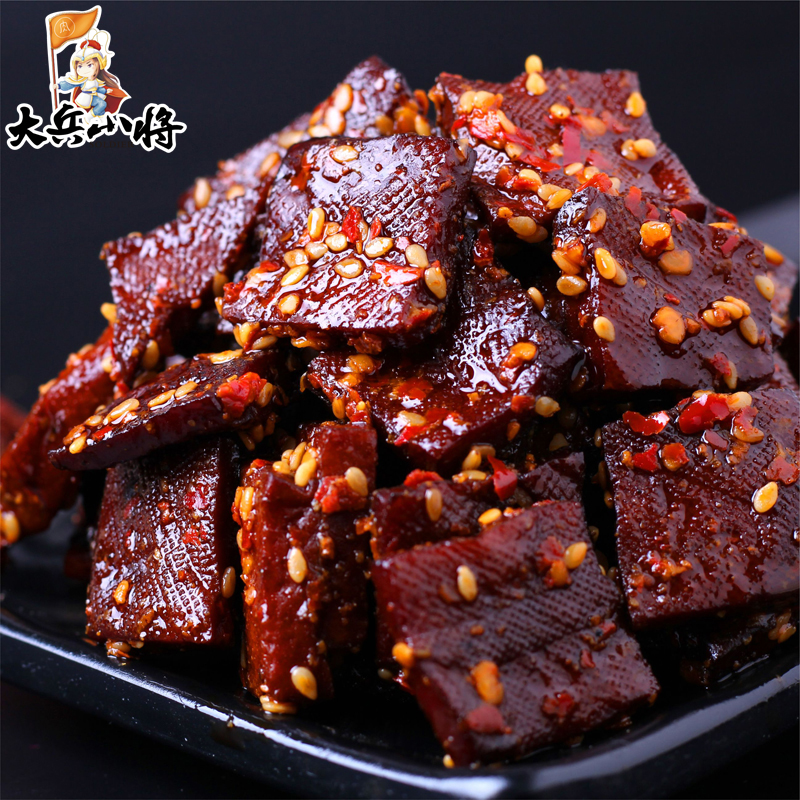 Hunan Pingjiang dried sauce 128G spicy snack spicy dried tofu instant snack homemade dried specialty