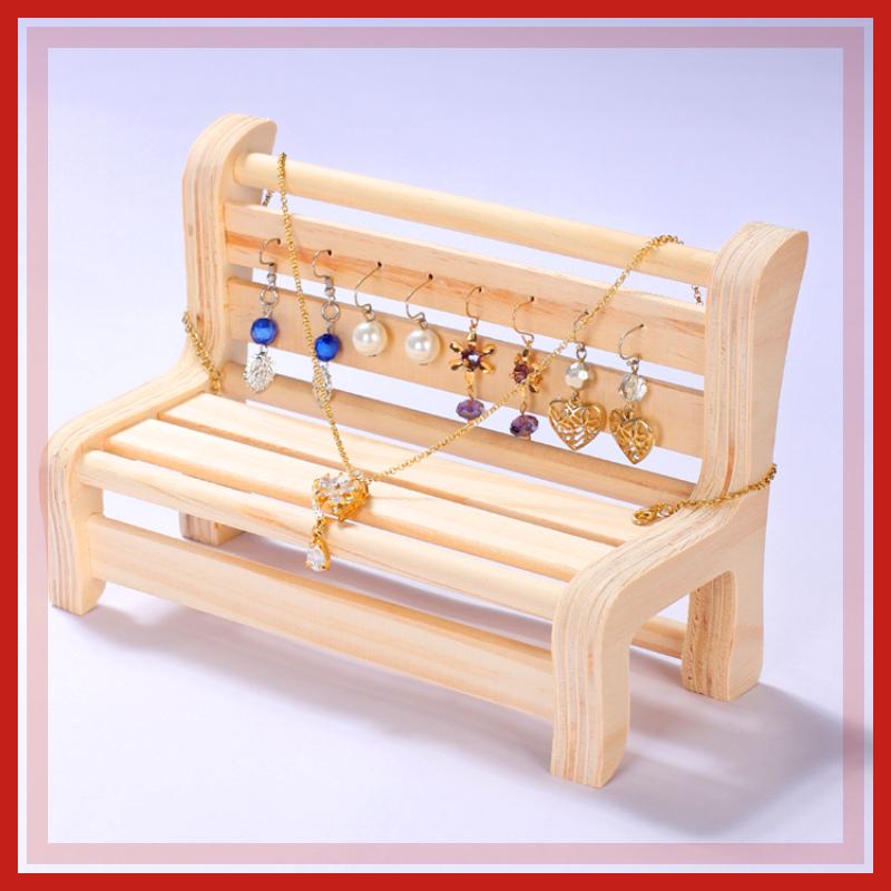 实木项链手链凳子摆件耳环收纳架