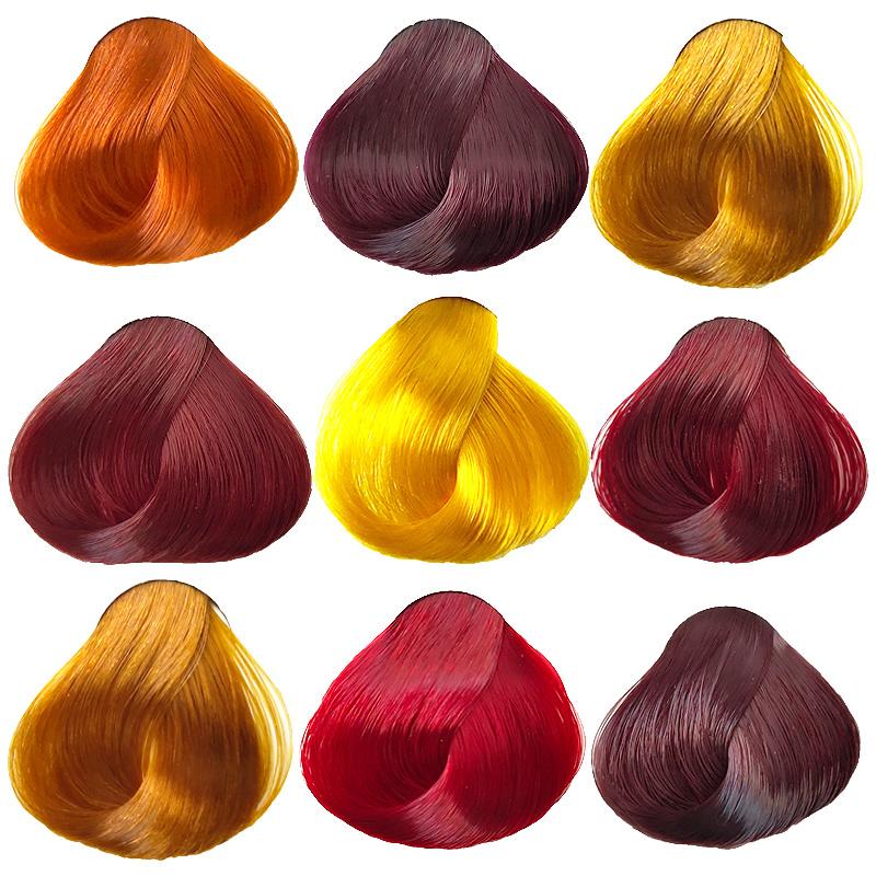 植物染发剂膏纯天然紫色栗棕浅金亚麻金黄绚丽红橙色葡萄紫酒红色