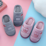 一家三口親子情侶棉拖鞋冬季保暖居家男女兒童室內小孩毛拖鞋潮