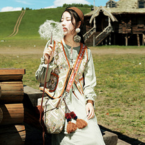 麦叙《北葵》民族风针织马甲女文艺复古森系古着短款马夹背心