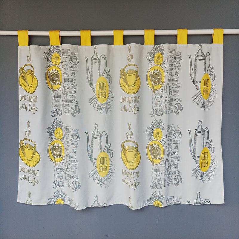 饭店厨房门帘家用短咖啡短帘窗帘11月24日最新优惠