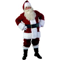 Shengquan cos santa claus dress gold velvet cloth Christmas clothing Seiko Custom Santa Costume